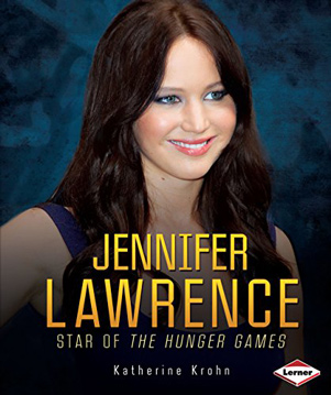 Jennifer Lawrence star of the hunger games book cover